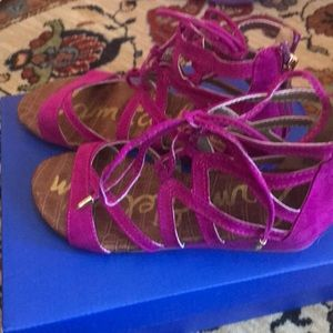 Sam Edelman - Fusia LaceUp Sandals (New, Not Worn)